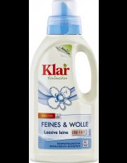 AlmaWin Klar, Feines & Wolle Flüssigwaschmittel, 0,5L Flasche