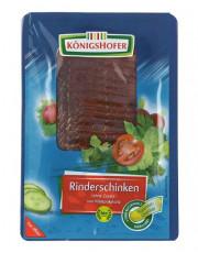 Königshofer, Rinderschinken, geschnitten, (R),  80g Packung #