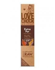Lovechock, 100% Rohkost Chocolate Extra Pur, Zartbitter, 40g Stück