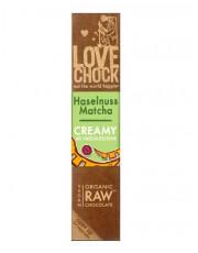 Lovechock, 100% Rohkost Chocolate Haselnuss Matcha Creamy, 40g Stück