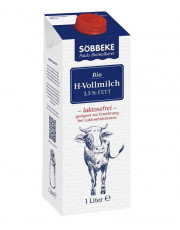 Söbbeke, Lactosefreie Haltbare Kuhmilch, 3,5% Fett, 1l Tetra Pack