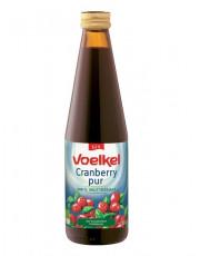 Voelkel, Cranberry pur, 100% Muttersaft, 0,33l incl. 0,15 EUR Pfand, Flasche