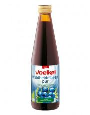 Voelkel, Heidelbeer pur, 100% Muttersaft,0,33 l incl. 0,15 EUR Pfand, Flasche