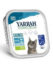 Yarrah, Katzenfutter Bröckchen, Fisch mit Spirulina, 100g Aluschale
