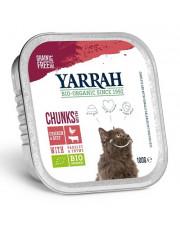Yarrah, Katzenfutter Bröckchen Rind, 100g Aluschale